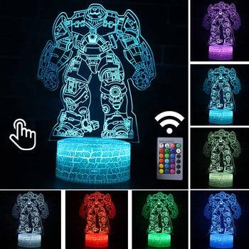 Star Wars Darth Vader Anime Figure Acrylic 3D Illusion LED Lamp Colourful NightLight Death Star Mask Yoda Model Toys Child Gift 38