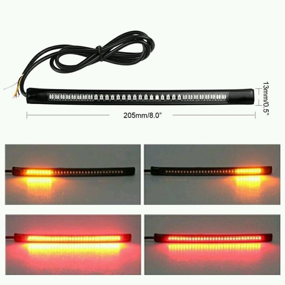 Waterproof Super Bright Flexible Strip Light Decoration 48 LED Light Signal Light Universal For Auto Car Motorcycle Truck
