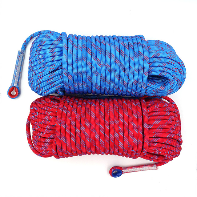50m Static Rock Climbing Rope 10mm Tree Wall Climbing Equipment Gear Outdoor Survival Fire Escape Rescue Safety Rope 10m 20m 30m 4