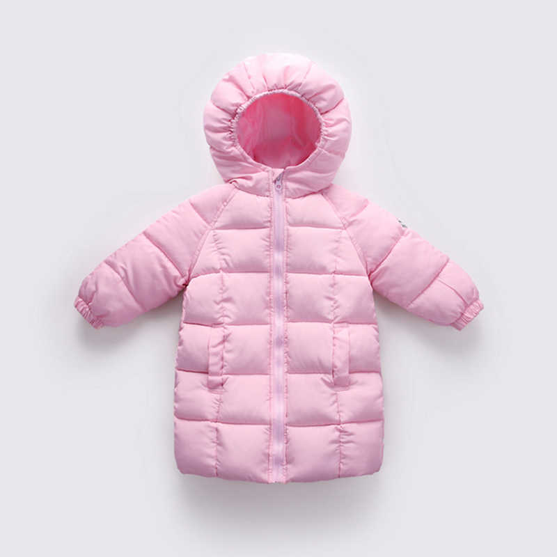Children's cotton suit long section winter children's boys and girls children's wear down coat thick warm cotton jacket 2