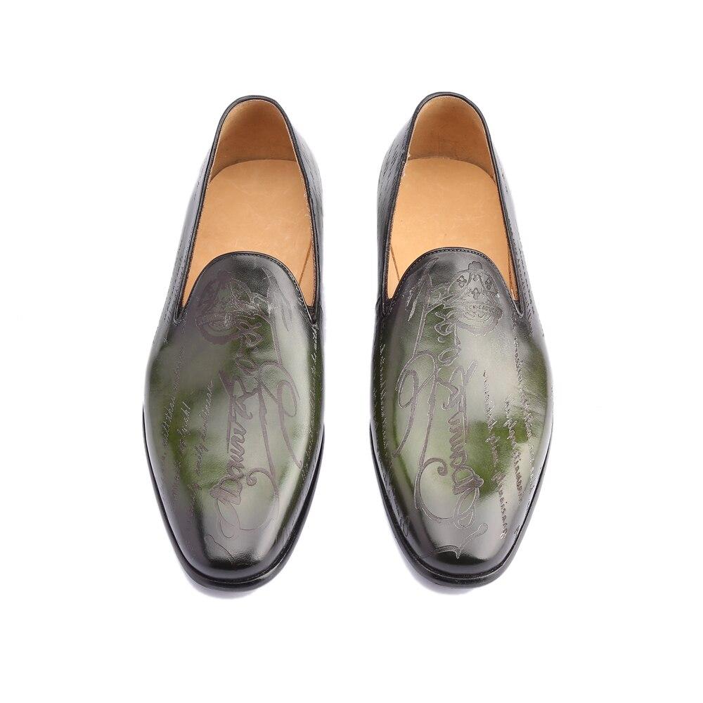 Мокасины, мужские туфли из натуральной кожи класса люкс ручной работы, изготавливаемая на заказ, для офиса, официальный, Свадебная вечеринка, оригинальный дизайн, Винтаж повседневная обувь в ретро стиле - 5