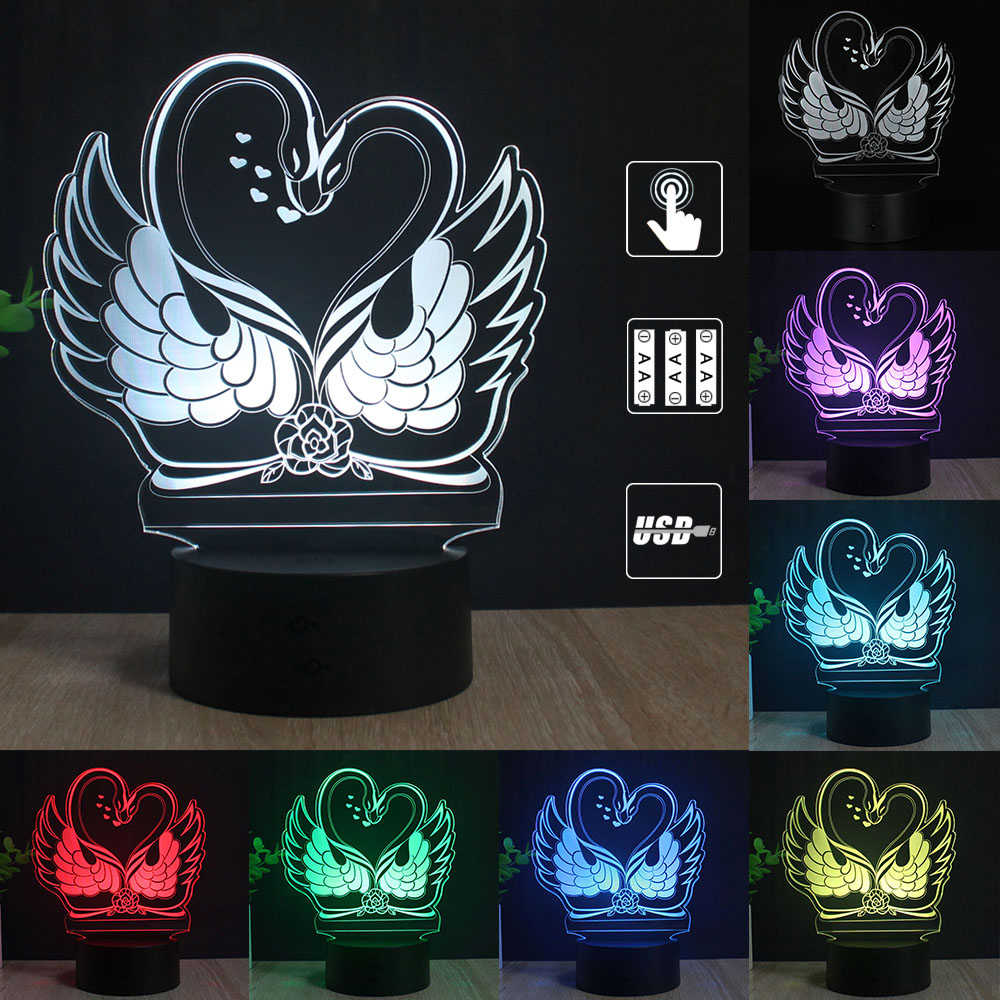 Tình Yêu Lãng Mạn 3D Đèn hình Trái Tim Bóng Acrylic Đèn Ngủ LED Đèn Bàn Trang Trí Lễ Tình Nhân Người Yêu Vợ quà Tặng của