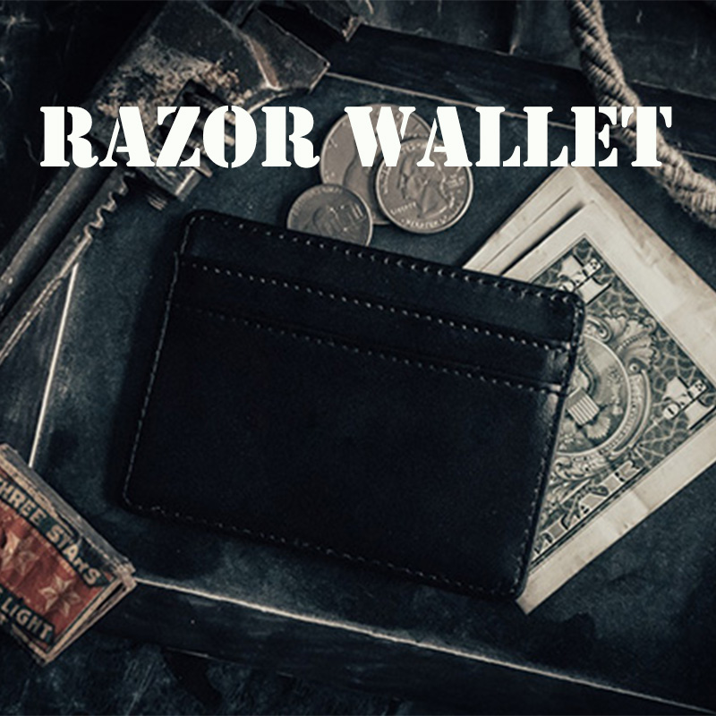 Razor Wallet Magic Tricks Magia Mystery Artist Peek Wallet Magia Magician Close Up Street Illusions Gimmick Prop Mentalism