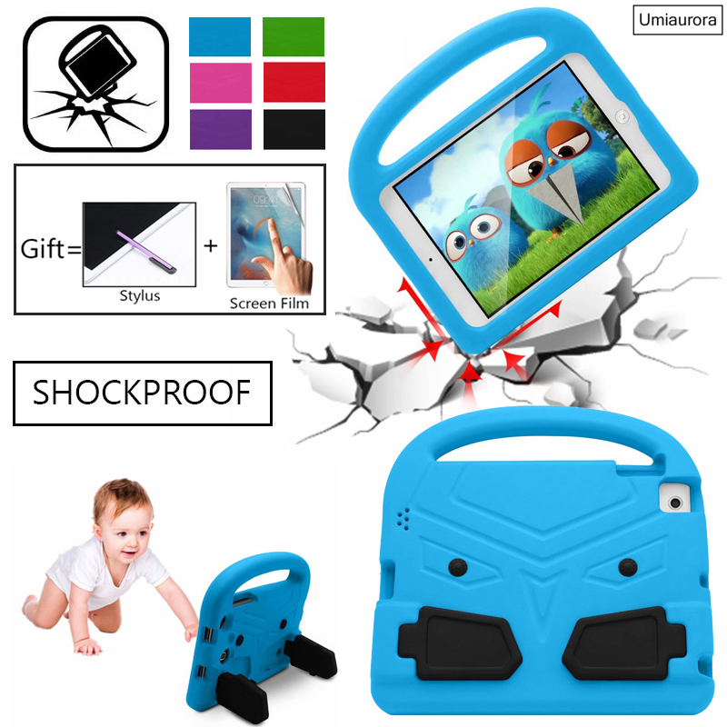 For Apple iPad 2 3 4 9.7 EVA Shockproof Case for iPad2 ipad3 ipad4 Funda Coque Children Kids Cute Wings Stand Protective Cover
