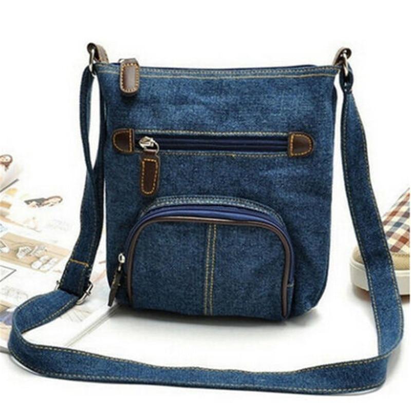 New Arrival 2020 Fashion Trend Blue Denim Handbag Hot Sale Women Shoulder Messenger Bags Cowboy Style Packet Lady Girls Handbags
