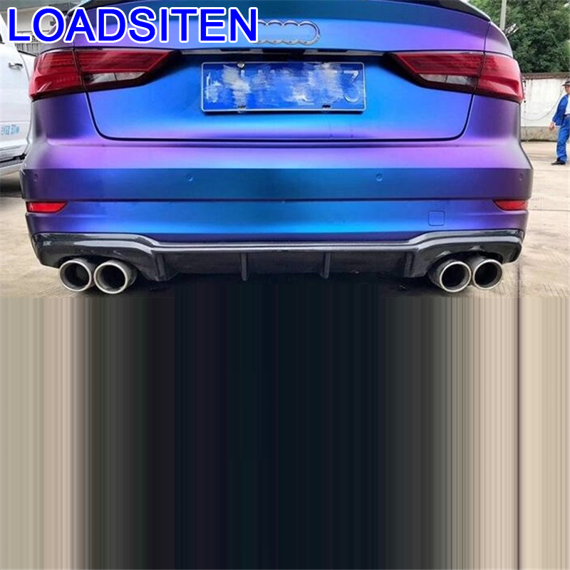 Modified Accessory Auto Modification Decoration Accessories Tuning Rear Diffuser Front Car Lip Bumpers 17 FOR Audi RS3 in Bumpers from Automobiles Motorcycles
