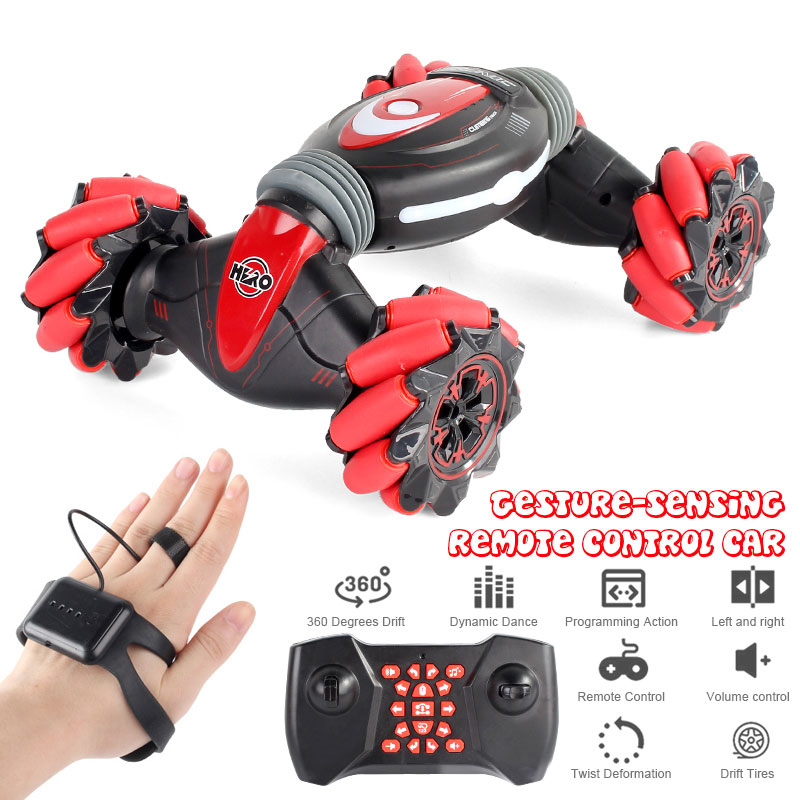 Remote control cascading car action induction reversing road traffic lights music drift dance side driving toys for children