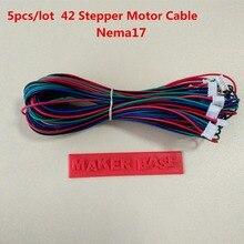 Nema 17 шаговый двигатель кабель RepRap двигатель проводка Dupont 4pin 6pin кабель 42 Мотор провода XH2.54 разъем nema17 провода 5 шт./лот
