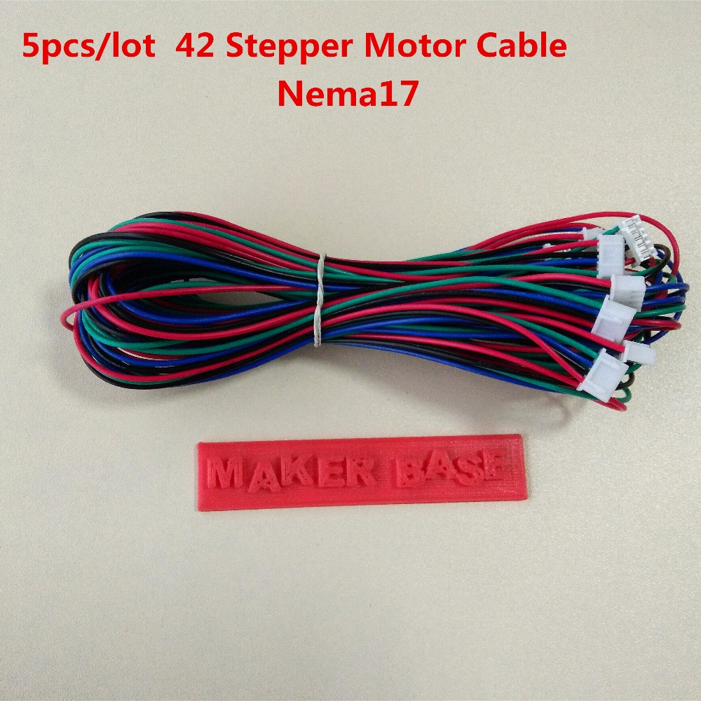 Nema 17 Stepper Motor Cable RepRap Motor Wiring Dupont 4pin 6pin Cable 42 Motor Wire XH2.54 Connector Nema17 Wire 5pcs/lot