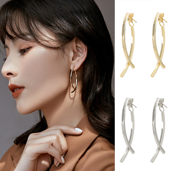 Geometric Dangle Earrings For Women 2020 New Fashion Metal Earrings Simple Design INS Style Metal Earrings Modern Female Jewelry image