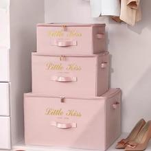 Foldable Storage Box Clothing Quilt Organizer Fabric Caja Organizadora Clothes Container Closet Home Organizer Large Capacity