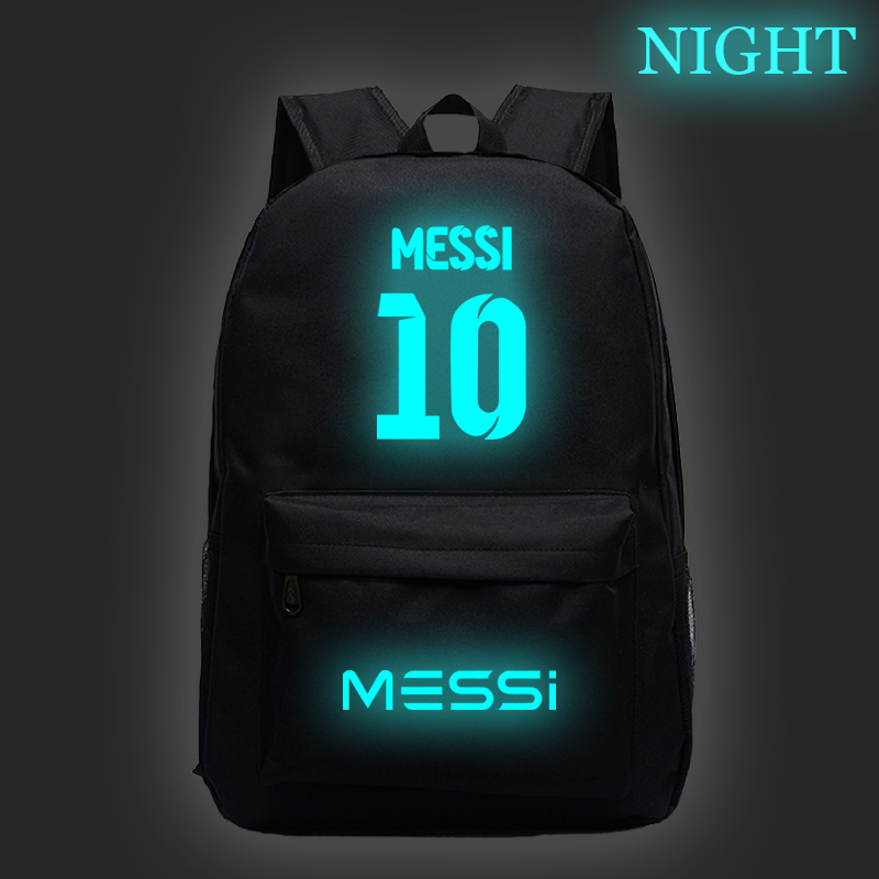 Luminous Hot Sale Messi  Bags Boys Girls Students School Backpack Fashion New Pattern Schoolbag Teens Men Women Travel Knapsack
