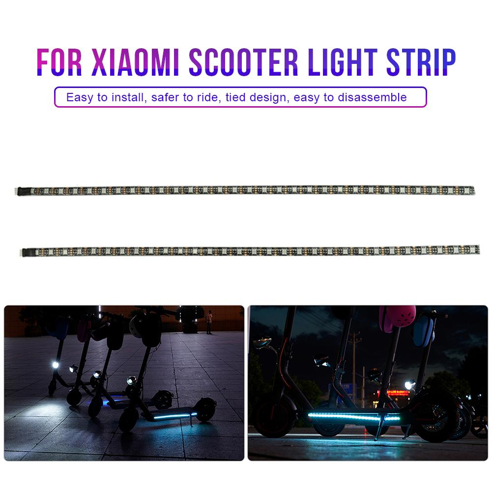Electric Scooter Strip Light Scooter Skateboard Foldable LED Light Strip Circuit Board Replacement Part For 2 Wheel Scooter