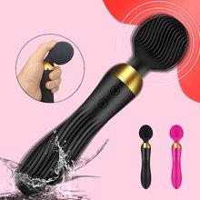 18 geschwindigkeiten Leistungsstarke Dildo Vibrator AV Zauberstab G-Spot Massager Sex Spielzeug Für Frauen Paare Klitoris Stimulieren Waren für Erwachsene