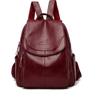 Kobiety skórzane plecaki moda torba na ramię panie podróży plecak prezent wysokiej jakości szkoły dziewczyny marki wodoodporne przed kradzieżą