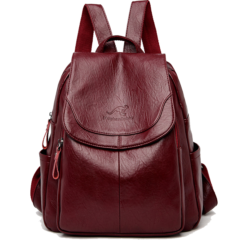 Women Leather Backpacks Fashion Shoulder Bag Ladies Travel Backpack High Quality Gift School Bags For Girls 2019 Brand SZHIY