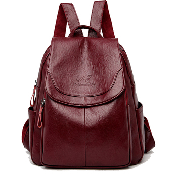 Women Leather Backpacks Fashion Shoulder Bag Ladies Travel Backpack High quality gift School Bags For Girls 2020 brand SZHIY 2018 new retro fashion zipper ladies backpack leather high quality school bag shoulder bag for youth bags leather tassel