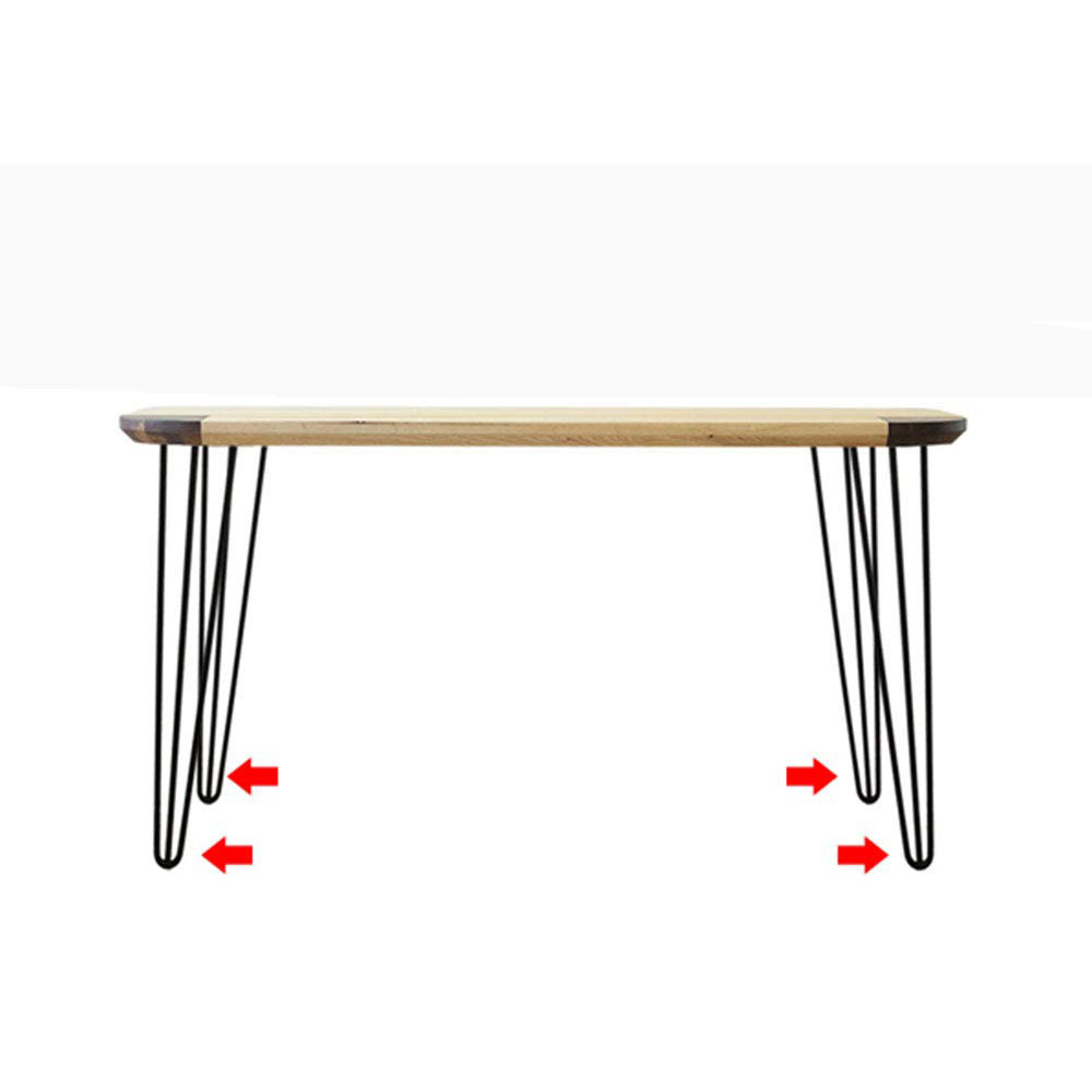 Metal Heavy-Duty Hairpin Legs With Screws And Protective Feet Height 6~40 Inches 4 Pieces  Furniture Feet
