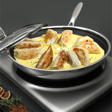 316 Stainless steel frying pan non-stick frying pan household cooking fried egg steak uncoated induction cooker gas stove stainless steel frying pan set pot uncoated non stick pan household cooking pot with induction cooker pan kitchen pot