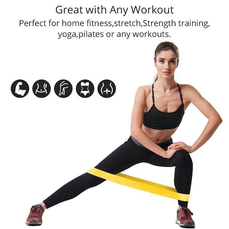 Эластичные ленты для йоги, 5 шт., набор для фитнеса, эластичная лента для тренировок, резиновая петля, Расширительная лента, спортивное оборудование-3