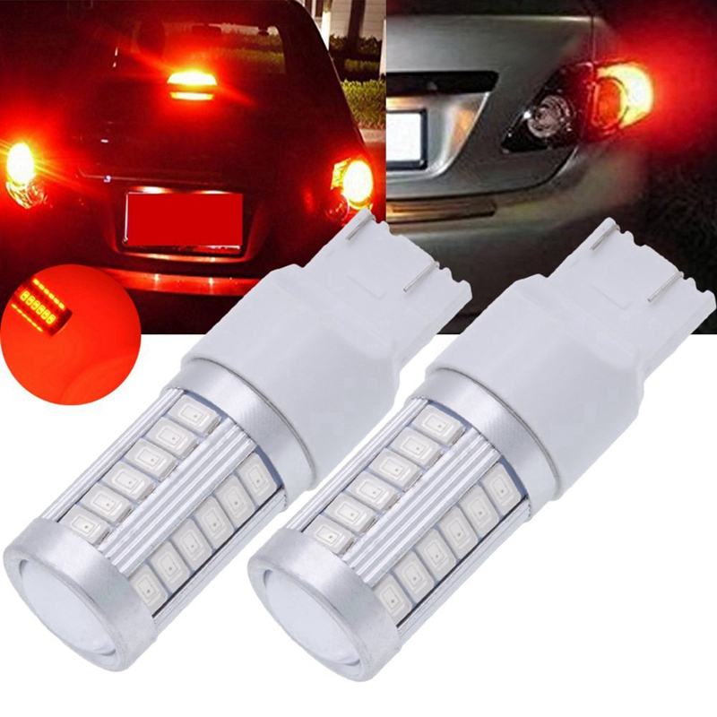 TUINCYN 7443 W21W T20 992 7440 7444NA LED Brake Light Bulbs Blue 5630 33SMD 900 Lumens Super Bright Back Up Reverse Light Turn Signals Light Tail Light Parking Light DRL DC 12V Pack of 10