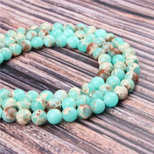 Hot Sale Natural Stone Emperor Stone 15.5 PicBlue Peacockk Size 4/6/8/10/12mm fit Diy Charms Beads Jewelry Making Accessories