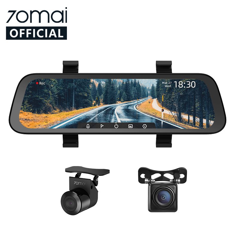 2020 Nieuwe 9.35 Inch Full Screen 70mai Achteruitkijkspiegel Dash Cam Breed 1080P Auto Cam 130FOV 70mai Spiegel Auto Recorder streamen Media Auto Dvr