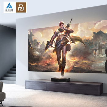 2020 Newest Xiaomi Fengmi 4K Cinema Ultra Short Throw Laser Projector Home Theatre 2000 ANSI 2GB DDR3 RAM 64GB Support HDR10 DTS