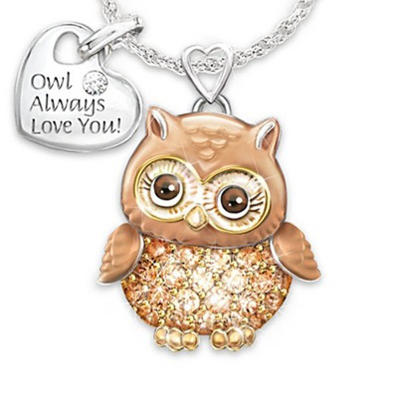 Yoziron-Lovely-Brown-Owl-Necklace-For-Women-Men-Dripping-Oil-Crystal-Rhinestone-Heart-Shaped-Lettering-Tag (1)