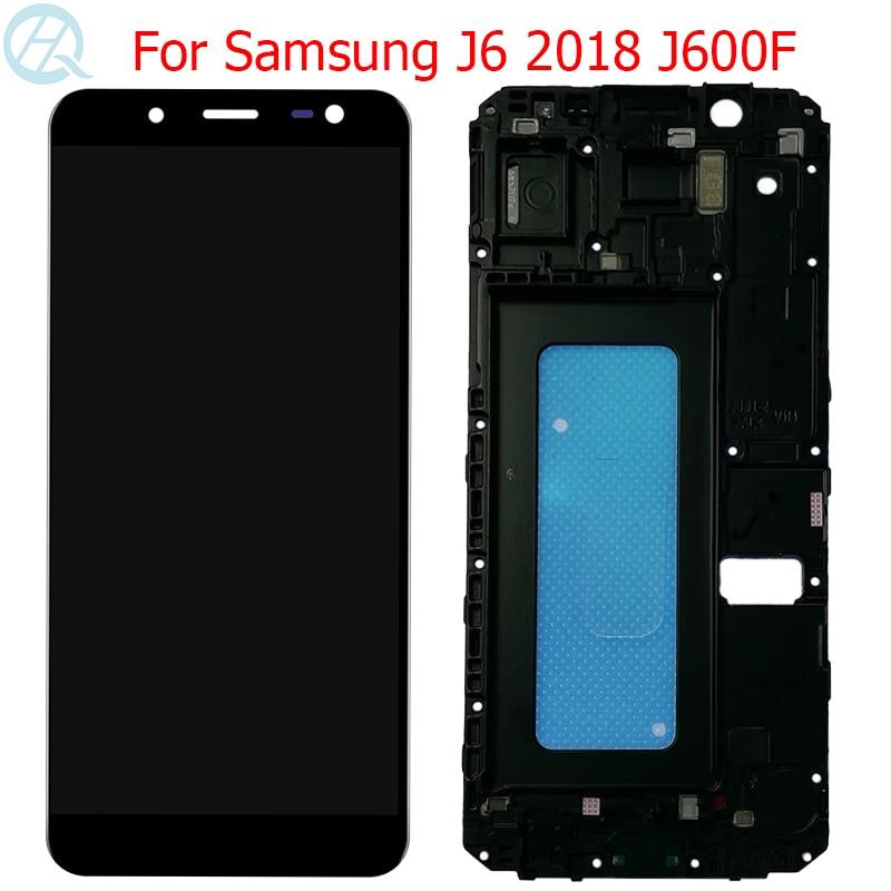 Оригинальный AMOLED для Samsung Galaxy J6 2018 ЖК-дисплей с рамкой 5,6
