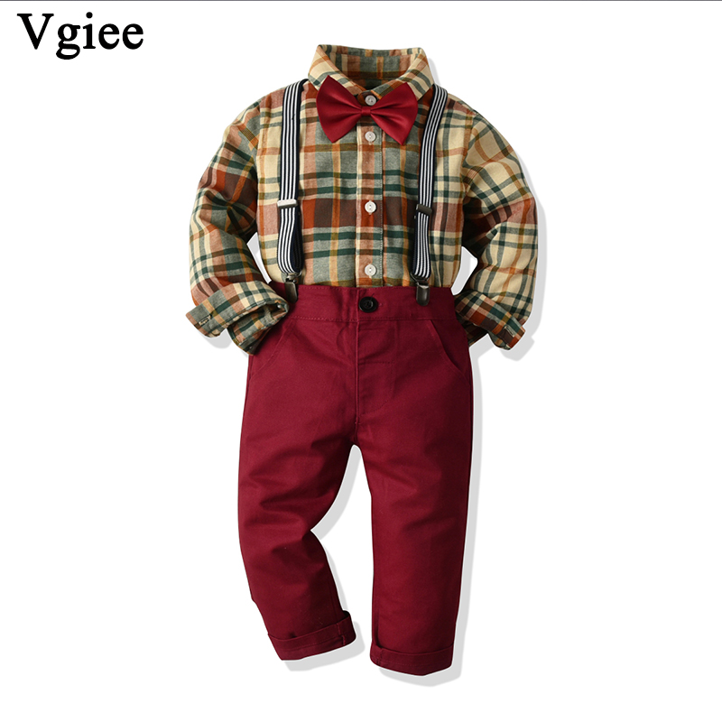 Vgiee Baby Boy Clothes Kids Clothing Children Set for Birthday Party and Wedding Outfits Cotton Full Fall Boys Set CC723