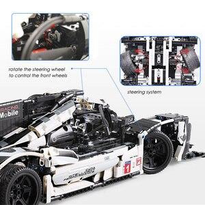 Image 5 - 1586個テクニックスーパースポーツレーシングカービルディングブロックmocリモートコントロールカーレンガセットクリエーターエキスパート子供のおもちゃ子供ギフト