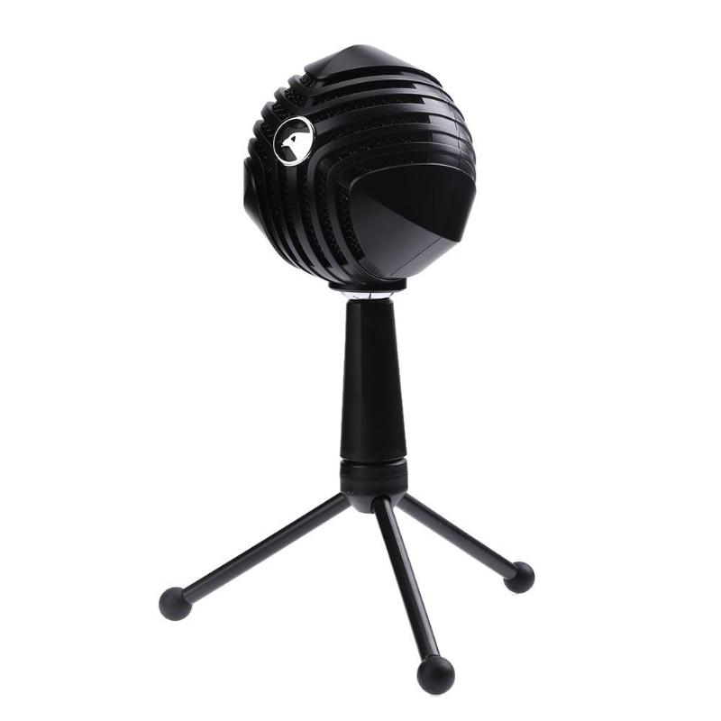 USB Wired Condenser Microphone Table Tops Desktop Computer Mic With Stand For Network Games Network Broadcast