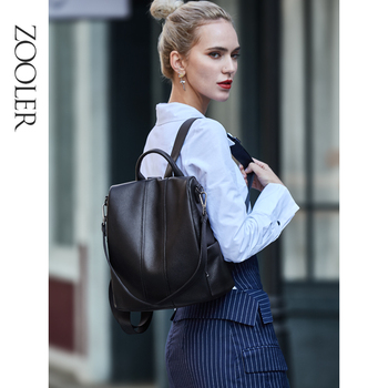 new arrival women backpack 100% genuine leather ladies travel bags preppy style schoolbags for girls knapsack holiday Large Capacity Women Backpack 100% Genuine Leather Female Travel Bag Schoolbag For Girls Fashion Knapsack Irregular Black Z176
