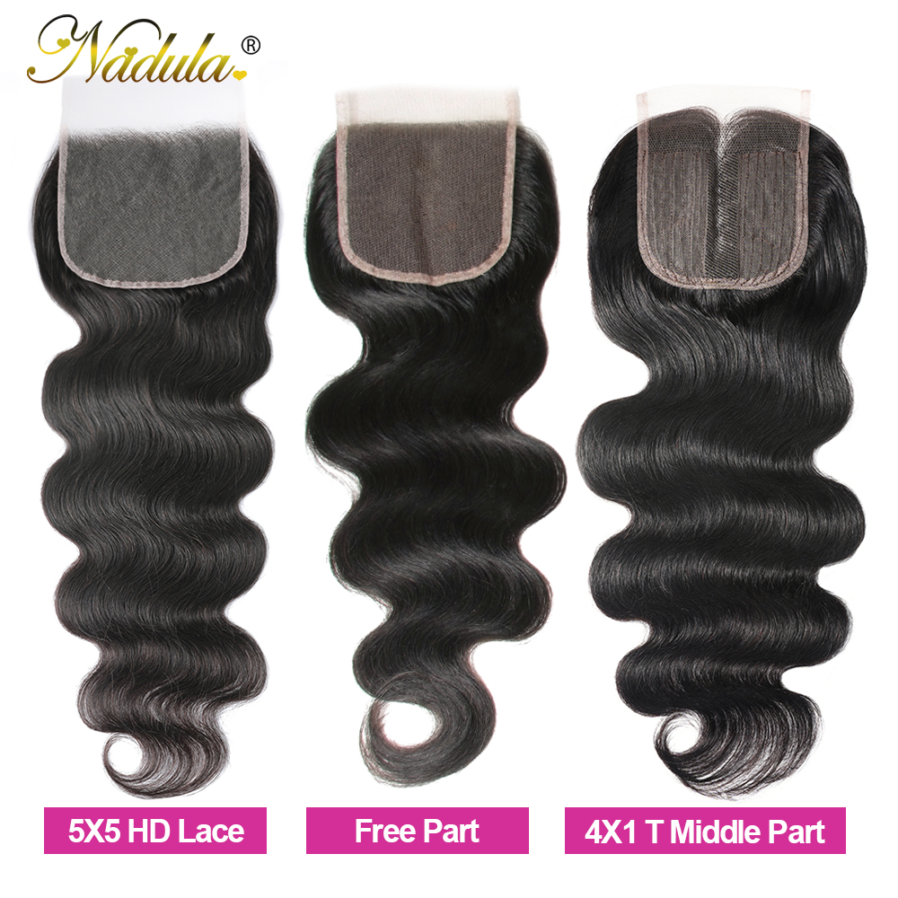 Nadula Hair HD Lace Closure Indian Body Wave Hair Closure 10-20inch  Swiss Lace Closure 3