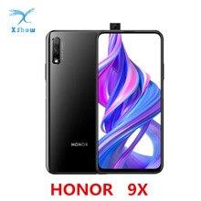 """Honor 9X Cell Phone Kirin 810 Octa Core Android 9.0 6.59""""  2340X1080 4GB RAM 64GB ROM Elevating Camera 48.0MP 4000mAh"""