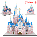 6300Pcs Friends Princess Castle Mini Diamant Building Blocks City Creator Architecture Villa House Bricks Toys for Children Girl