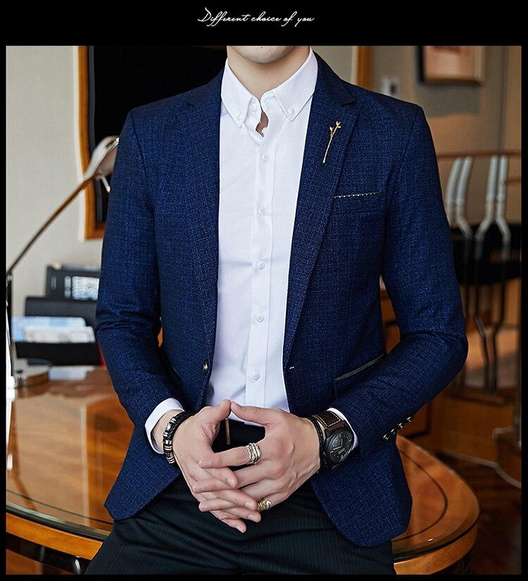 Hbcaa165b2d994a96a74e49c0a49d3913j - Striped Blazer Mens Slim Fit Blazer Slim Masculino Business Casual Mens Stylish Blazer Spring Autumn Dot  Striped Blazers Mens