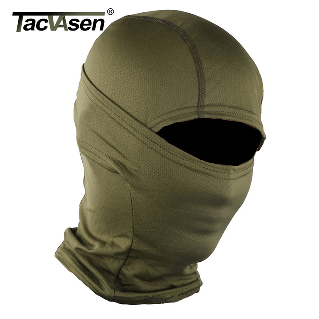 TACVASEN Multicam Camouflage Tactical Hood Mask Quick Dry Hunt Full Face Mask Paintball War Game Helmet Army Military Face Mask
