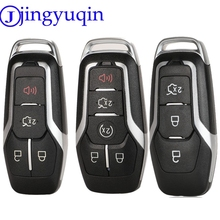 jingyuqin 5ps 5 Buttons Key Case Cover for Ford Edge Explorer Fusion 2015 2016 2017 M3N A2C31243300