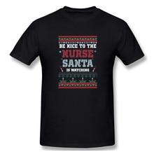T-Shirt à manches courtes pour homme, pull de noël, simple et moche, taille européenne, infirmière, nouvelle collection 2020