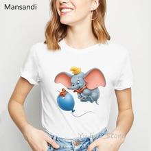 funny t shirts women dumbo cartoon print t-shirt camisetas mujer harajuku kawaii clothes vogue tshirt female tumblr tops tee