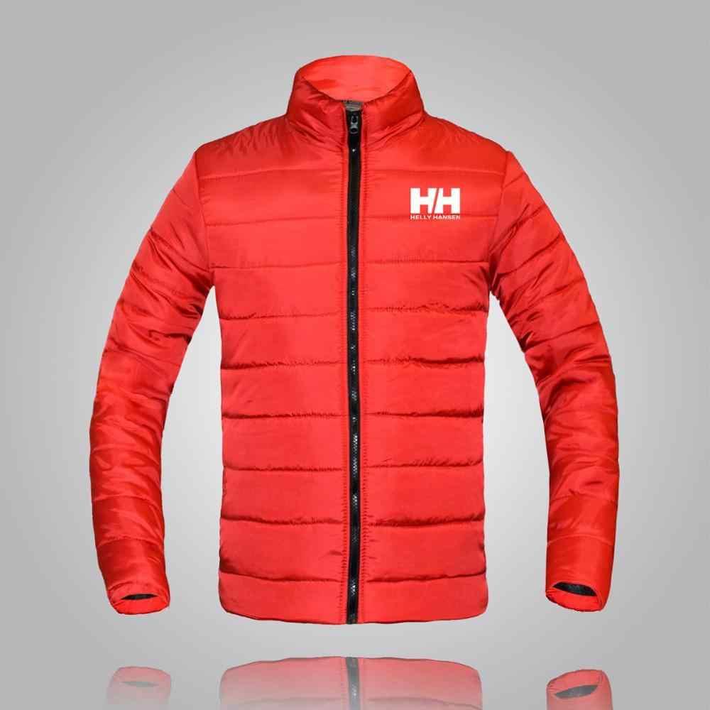 冬ジャケットヘリーハンセンの男性 2019 ファッションスタンド襟男性パーカージャケットメンズ固体厚手のジャケットとコートの男冬パーカー