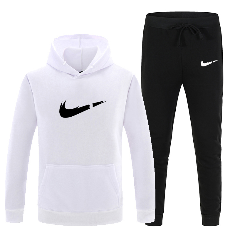 New Tracksuit Men Off White Hooded Sweatshirts Sportswear Set Men/Women Hoodie 12 Color Hoodie+Sweatpants Autumn Winter Men Sets