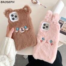 3D Cartoon Bear Rabbit Phone Case for iPhone