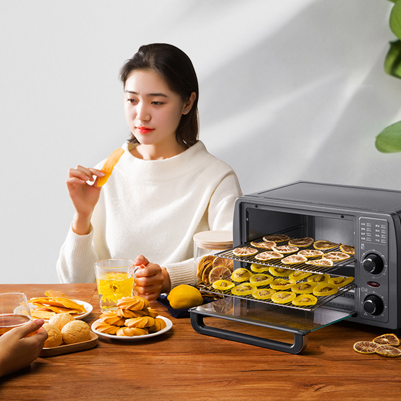 KONKA Electric Oven Household Baking Small Multifunctional Fruit Dryer 2 Tray Layer Stainless Steel Fruit Dryer For Home Kitchen