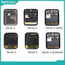Volledige Lcd scherm Touch Screen Digitizer Vergadering Reparatie Deel Voor Apple horloge Serie 1 2 3 38mm 42mm 4 40mm 44mm Display