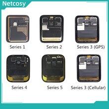 전체 화면 lcd 디스플레이 터치 스크린 디지타이저 어셈블리 수리 부품 애플 시계 시리즈 1 2 3 38mm 42mm 4 40mm 44mm 디스플레이