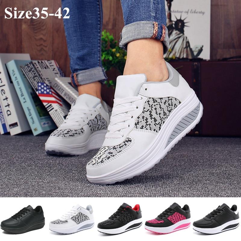 Lady Fashion Shake Shoes Women Fitness Shoes Women Casual Platform Sneakers Size 35-42