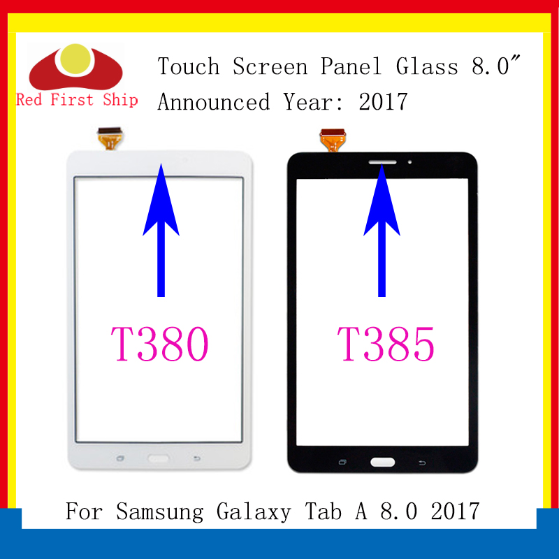 10Pcs/lot For Samsung Galaxy Tab A 8.0 2017 T380 T385 Touch Screen Digitizer Panel Glass Lens T385 LCD Front Sensor Replacement